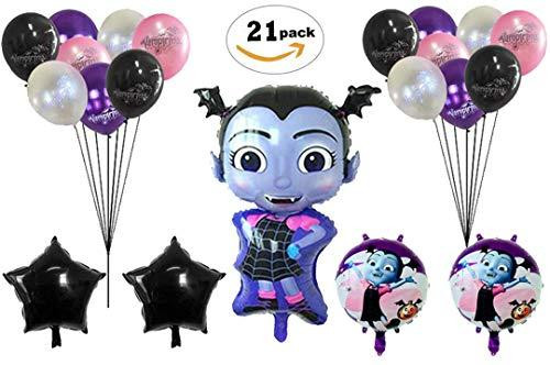 Vampirina Balloons Birthday Party Supplies [21 Balloons and 2 String ] | Halloween Party Supply Decorations | Perfect Birthday Decoration
