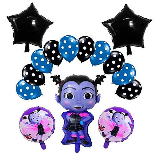 Vampirina Balloons, Vampirina Theme Party Mylar Foil Balloons, Halloween Decoration, Balloons for Girls Birthday Party and Disney Princess Party - Set of 15