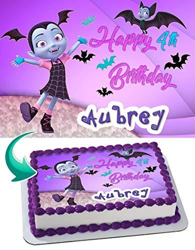 Vampirina Edible Cake Image Personalized Birthday Topper Icing Sugar Paper A4 Sheet 1/4 ~ Best Quality Edible Image for cake