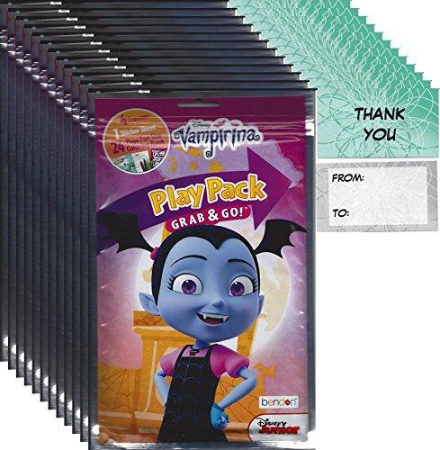 Bendon Publishing Disney Junior Vampirina Party Favors (12 Play Packs and 12 Thank You cards
