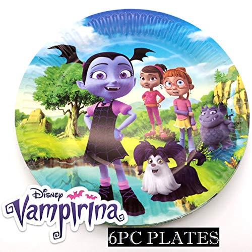 "6pc Set of 7"" Dessert Plates Vampirina Latex Party Supplies Decorations Balloon Balloons Favors Goody Bags Centerpiece"