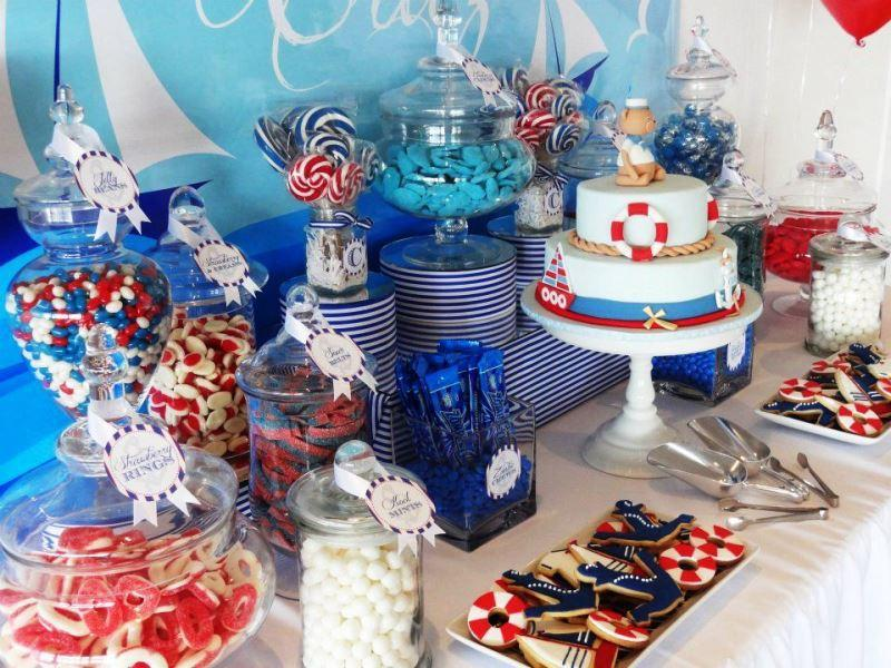 candy bar de fiesta marinero