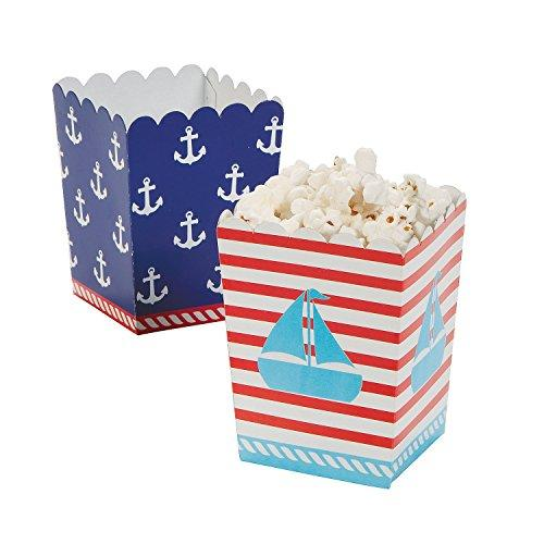 Fun Express Nautical Sailor Mini Popcorn Boxes - 24 ct