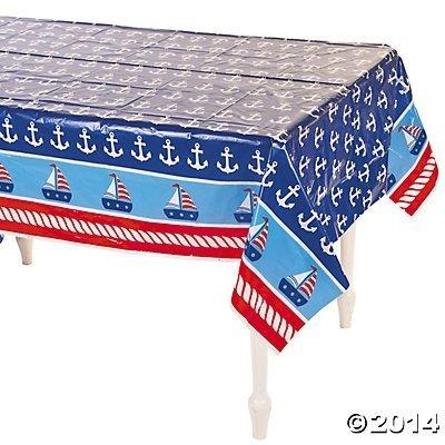 Fun Express Plastic 1st Birthday Sailor Table Cover