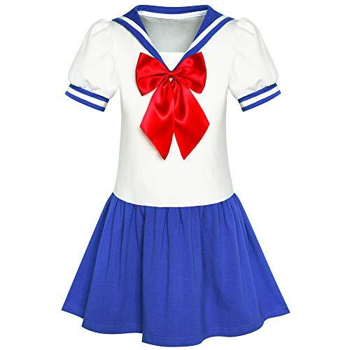 Girls Dress Sailor Moon Cosplay School Uniform Navy Suit Size 7