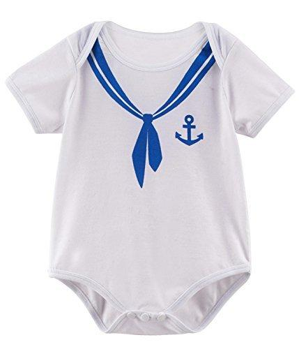 Mombebe Baby Boys Halloween Costume Sailor Bodysuit