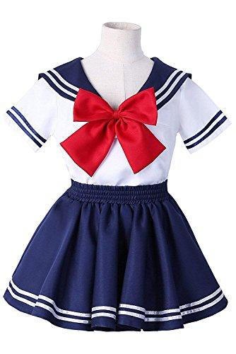 H&ZY Anime Kids Girls Boy Navy School Uniform Sailor Costume Dress Suit