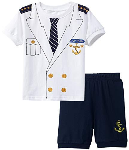 A&J DESIGN Halloween Boys Captain Pajamas Costume Sets Kids PJS