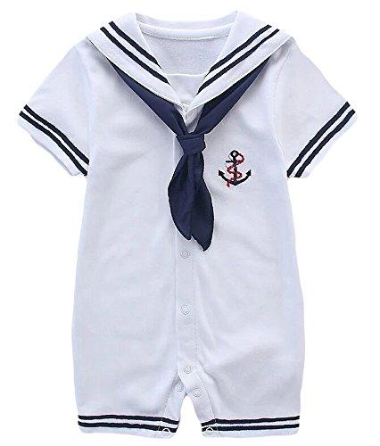 Simlehouse Baby Boy Sailor Suit Cosplay Dress Kids Bodysuit Outfits Clothes 2018
