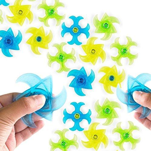 Mini Finger Gyro Fidget Spiral Twister Toys Party Pack (24 Pieces) by Super Z Outlet