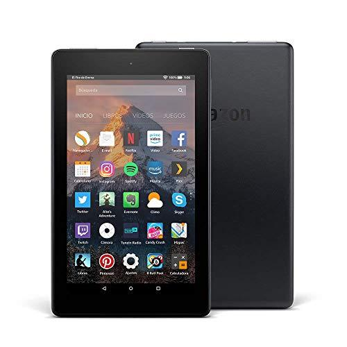 Tablet Fire 7, pantalla de 7 (17,7 cm), 8 GB (Negro) - Incluye ofertas especiales