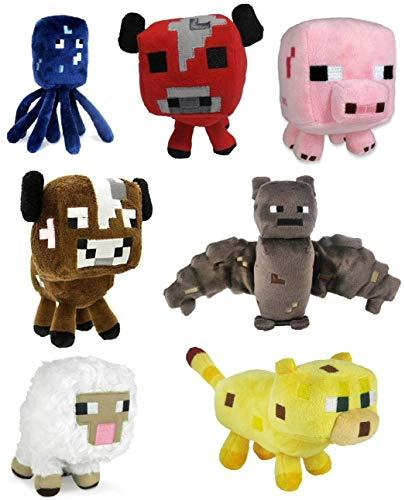 Minecraft Party Favor Mega Lot - 40 Items - 10 Plush, 10 Bracelets, 10 Stickers, 10 Bags