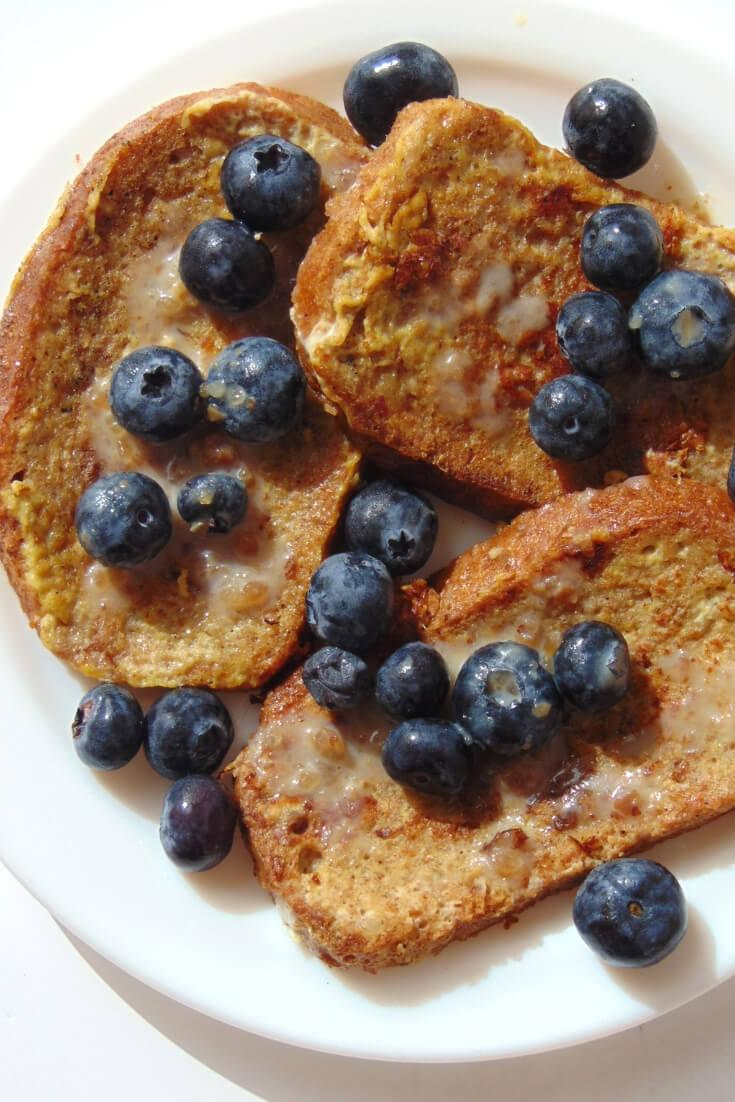 french toast saludable y sin azucar