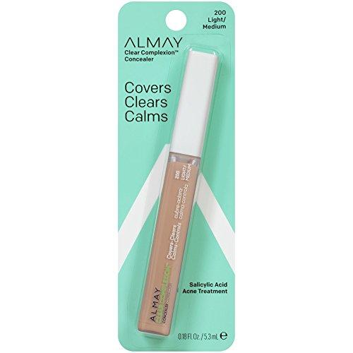 Almay Clear Complexion Oil Free Concealer, Light/Medium 200, 0.18 Ounce Package by Almay