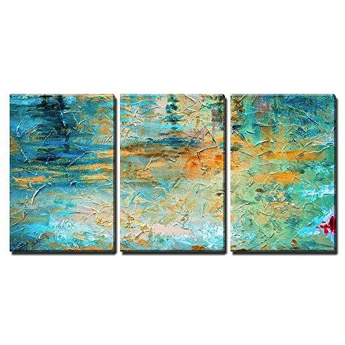 "wall26 - Abstract Oil Paint Texture - Canvas Art Wall Decor - 16""x24""x3 Panels"