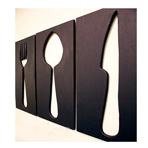 Space Hax Giant Fork Spoon Knife Kitchen Utensils Wall Hanging Kitchen Decor Art Customization available