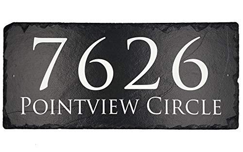 "Beautifully Handcrafted and Customizable Slate Home Address Plaque (12""x6"" 16""x10"" or 18""x8"") Personalized House Sign with and mounting hardware. Improve the curb appeal of your property"