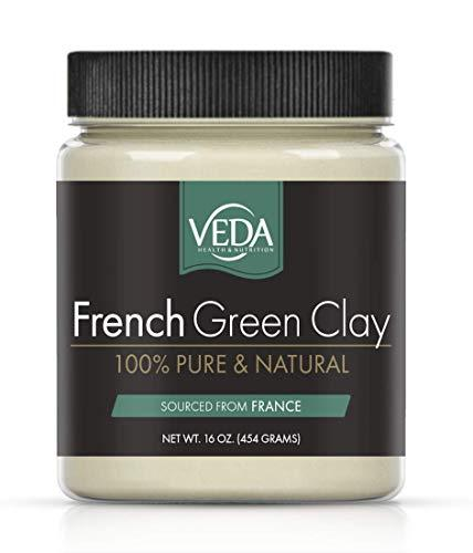 VEDA French Green Illite Clay, 100% Pure, 16 oz. (454 grams)