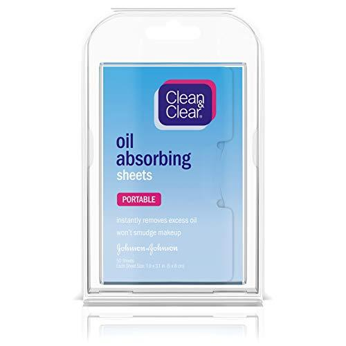 Clean & Clear Oil Absorbing Facial Blotting Sheets for Oily Skin Care to Remove Excess Oil & Shine, 50 ct. (Pack of 6)