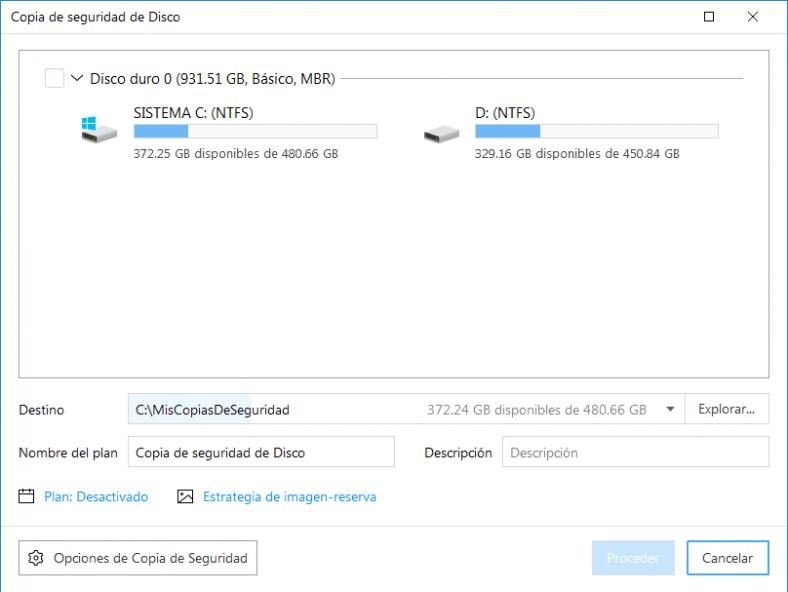 EaseUS Todo Backup Home, backup