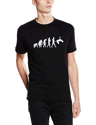 Shirtzshop – Camiseta Evolution Parkour II, Unisex, T-Shirt Evolution Parkour II, Negro, XXXL
