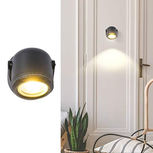 GORGAN Up/Down Adjustable Outdoor Wall Light Waterproof Wall Wash LED Aluminum Cylinder Exterior Wall Sconce Night Wall Lamp for Gallery Garden Patio Pathway Staircase Balcony Drive Way, Black