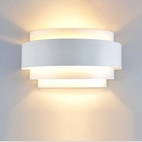 Lightess Modern Sconce 5W LED Up Down Wall Lamp for Bedroom Hallway, Warm White