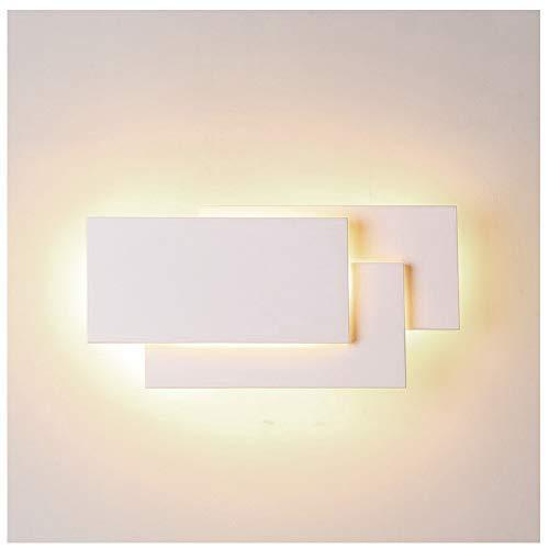 Ralbay 12W LED Wall Sconces Lighting Interior Wall Lamp Contemporary Wall Mounted Lamp With Aluminum Shell for Indoor Bedroom Hotel Light Bathroom Vanity Light 85V~265V AC (White 2700K-3200K)