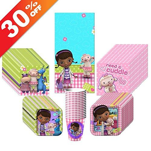 Doc McStuffins Party Kit Including Plates, Cups, Tablecover and Napkins - 16 Guests by Hallmark