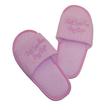 "Girl Day Spa Birthday Party Favor Costume Slippers, 8 Pair Pack, Size Medium (9"" Long)"