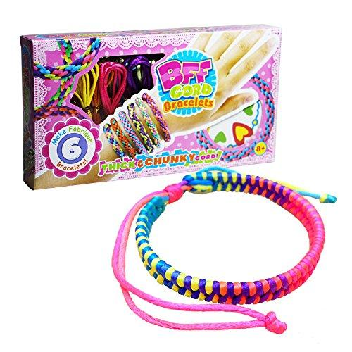 DIY Wear BFF Cord Bracelets Color Weave Bracelet for Girl Bracelet Making Kit for Gift