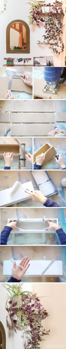 DIY: Jardinera de pared, visto en