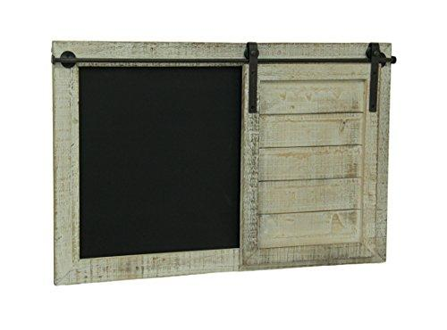 Whitewashed Finish Barn Door Chalkboard Message Board