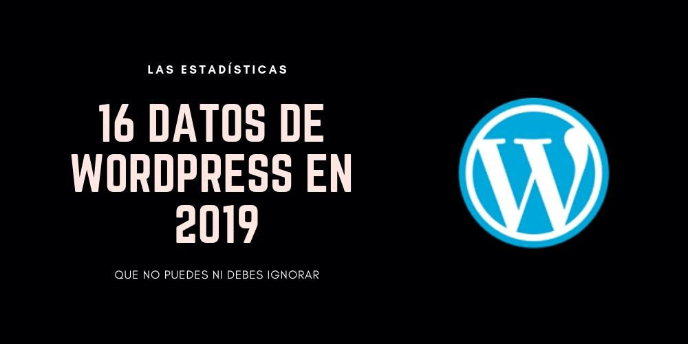 estadísticas de wordpress 2019