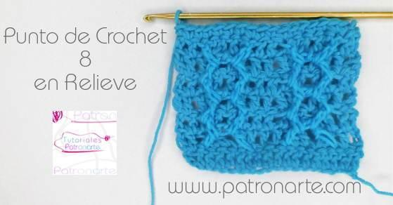 Punto de Crochet Ocho en Relieve - Crochet Lace 8 Stitch