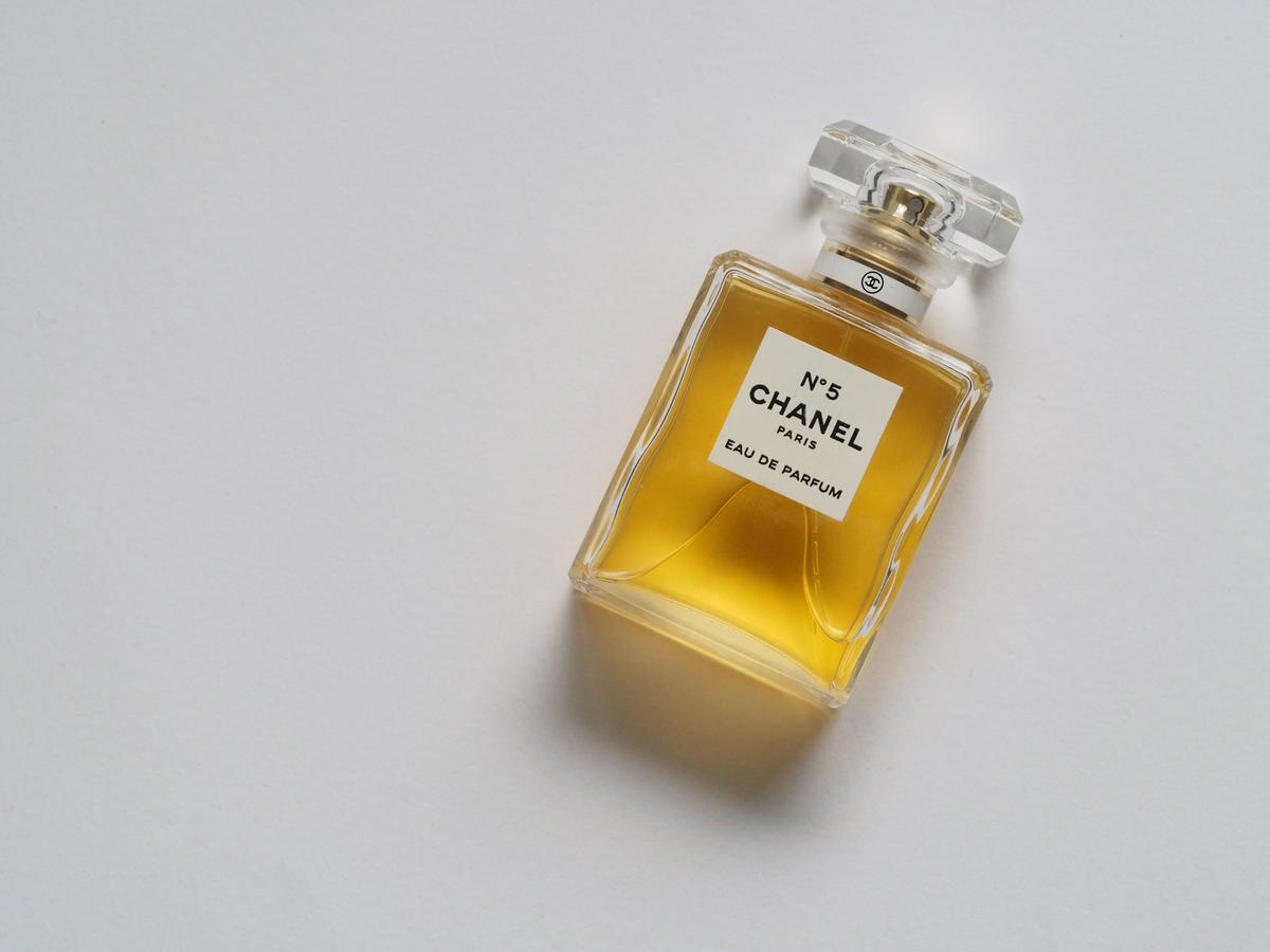 Chanel N5 fragrance bottle