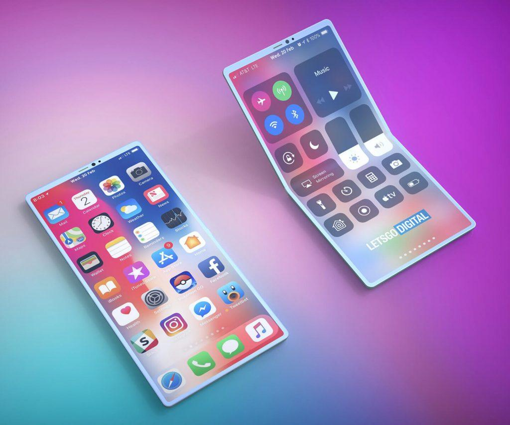iPhone plegable - Renders