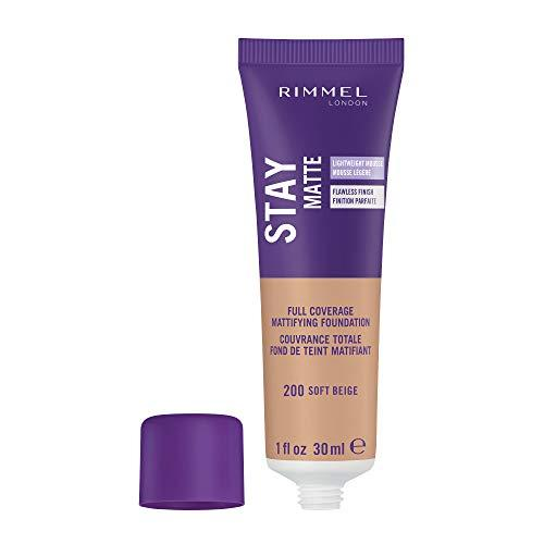 Rimmel London Stay Matte Base de Maquillaje Tono 200 Soft Beige - 41,545 gr