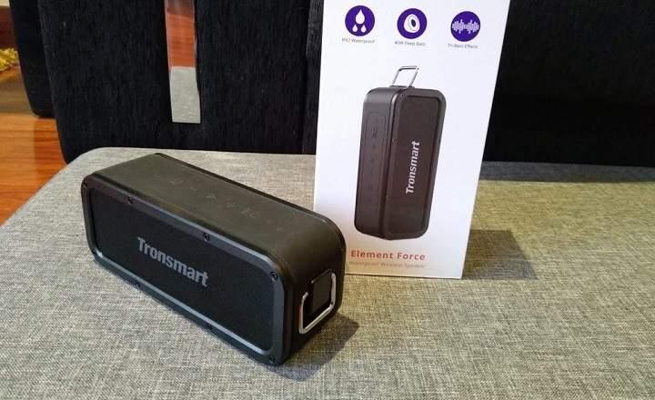 Review del Tronsmart Element Force altavoz Bluetooth con TWS 40W sumergible ranura para micro SD y batería con duración de 15 horas