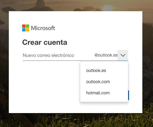 elegir outlook hotmail dominio correo