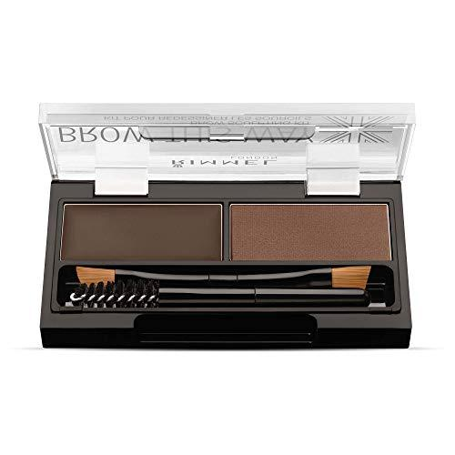 Rimmel London Brow This Way Brow Sculpting Kit Kit para Cejas Tono 003 Dark Brown - 17,2 gr