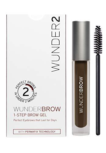 WUNDER2 WUNDERBROW Gel de Cejas Waterproof – Cejas Duraderas con Volumen y Definición, Color Black Brown