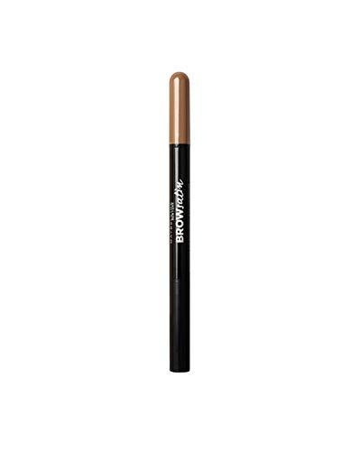 Maybelline New York Lápiz de cejas Brow Satin, Tono 02 Medium Brown