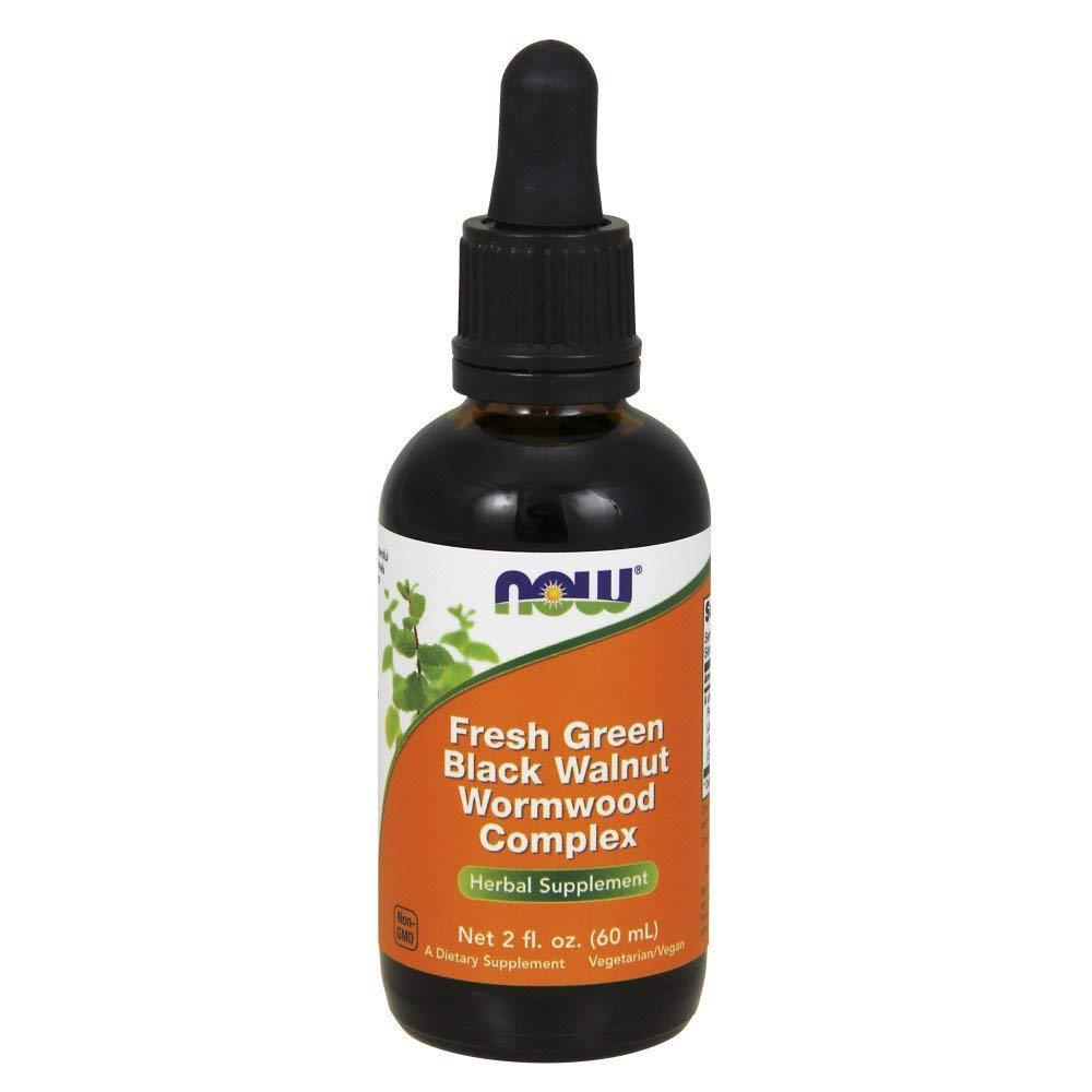 Complejo con ajenjo y nogal negro fresco (Fresh Green Black Walnut Wormwood Complex) | 2 fl oz (60 ml) | sin gluten y soya