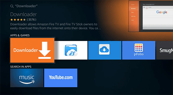 Instalar la aplicación Downloader en Amazon Fire TV Stick