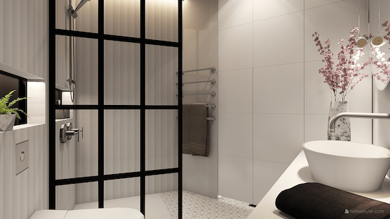 decoralinks | white and black bathroom - design by Decoralinks Studio