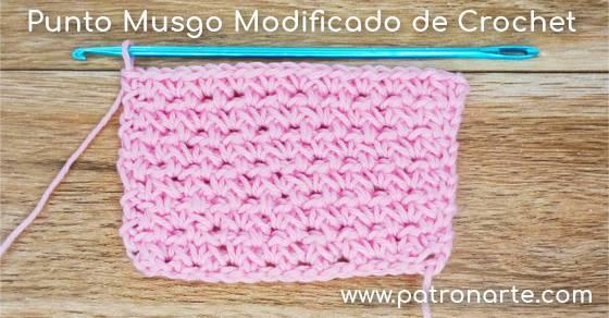Punto Musgo Modificado de Crochet - Ganchillo