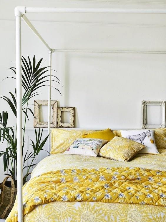decoralinks | color vestir cama verano - amarillo