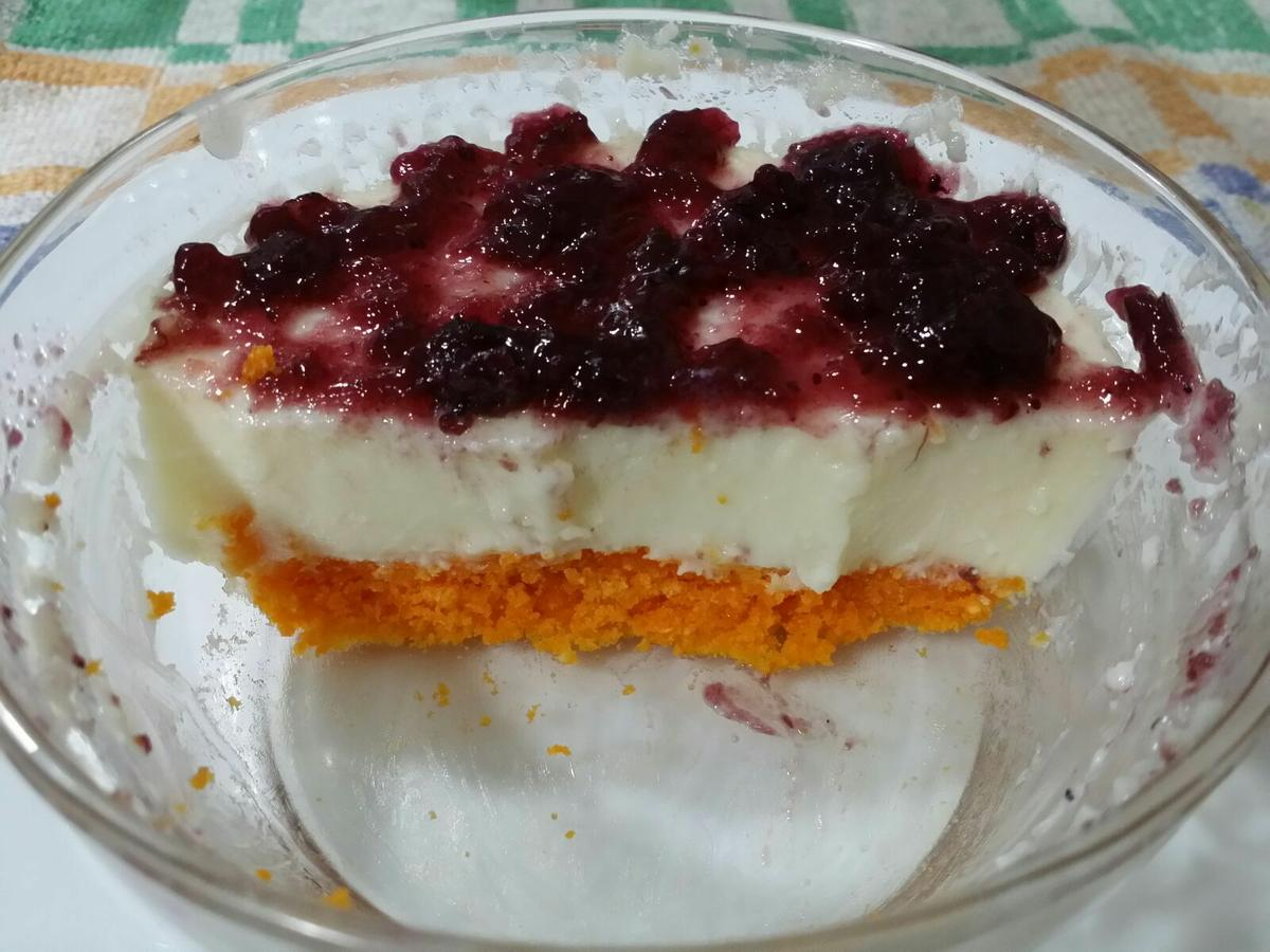 Tarta de queso con base de Risketos