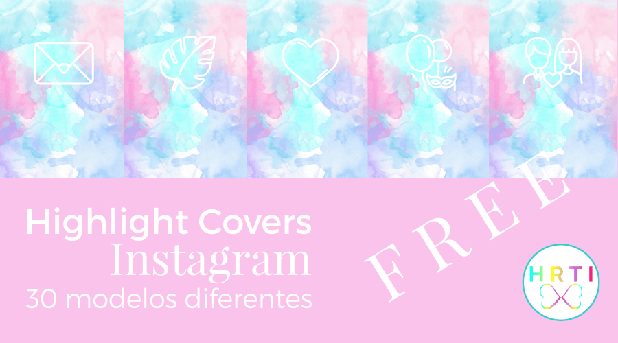 highlight covers instagram watercolor